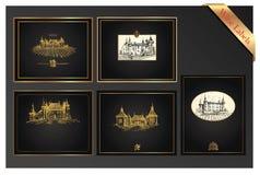 Vector wijnetiketten Royalty-vrije Stock Foto's