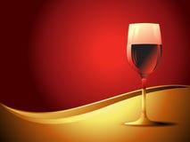Vector wijnglas Royalty-vrije Stock Foto's