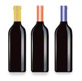 Vector wijnstokflessen royalty-vrije illustratie