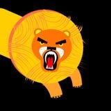 Vector wild illustration animal safari mammal design cat fe. Lion  wild illustration animal safari mammal design cat feline Royalty Free Stock Photos