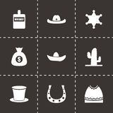 Vector wild west icon set Royalty Free Stock Image
