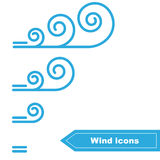 Vector Wind icons Stock Photo