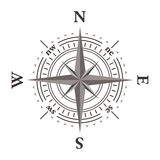 Vector wind rose compass. Isolated on white Royalty Free Stock Photo