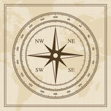 Vector Wind rose on a world map background Royalty Free Stock Image