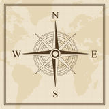 Vector Wind rose on a world map background. For web and Print use Royalty Free Stock Images