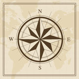 Vector Wind rose on a world map background. For web and Print use Royalty Free Stock Photos