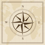 Vector Wind rose on a world map background Royalty Free Stock Photography