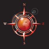 Vector_wind s'est levé avec la terre Image libre de droits