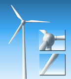 Vector wind turbine Stock Images