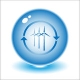 Vector wind turbine Royalty Free Stock Photos