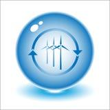 Vector wind turbine Royalty Free Stock Photos