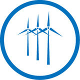 Vector Wind Turbine Icon Stock Images