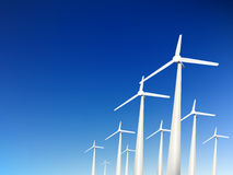 Vector wind turbines Royalty Free Stock Photo