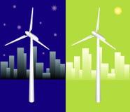 Vector Windmühle Stockfotos