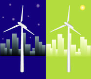 Vector windmill Stock Photos