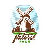 Vector windmill emblem Stock Photos