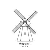 Vector Windmill Icon. Isolated on white Stock Images