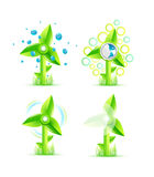 Vector windmills Royalty Free Stock Photo