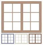 Vector window frames isolated. Royalty Free Stock Photos