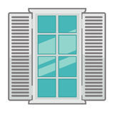 Vector window for interior and exterior design use. Stock Image