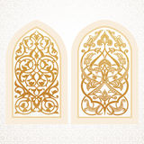 Vector windows in arabic style Stock Image