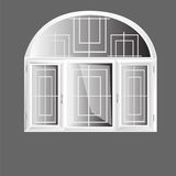 Vector windows arch plastic Royalty Free Stock Photography