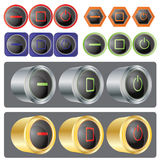 Vector Windows Button Set Stock Photography