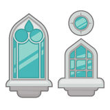 Vector windows collection of various types. Stock Photos