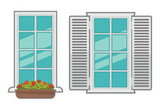 Vector windows collection of various types. Royalty Free Stock Photo