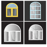 Vector Windows Plastic Glosed Royalty Free Stock Photo