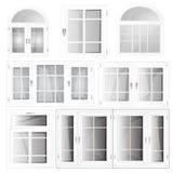 Vector Windows Plastic Glosed Royalty Free Stock Photo