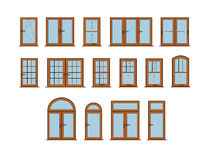 Vector Windows Set Stock Image