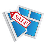 Vector windows, windows sale Stock Photo