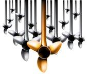Vector windturbines royalty-vrije illustratie