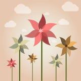 De bloem van de windwijzer Stock Foto