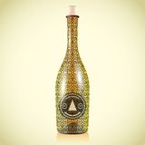 Vector wine bottle Stock Photography