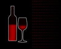 Vector wine bottle and glass Stock Image