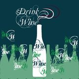 Vector wine bottle silhouette Stock Image
