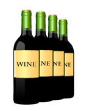 Vector wine bottles in a row Royalty Free Stock Images