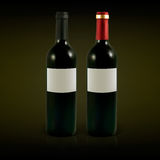 Vector wine bottles. Set of vector wine bottles with blank labels. Illustration contains gradient meshes Stock Image