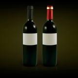 Vector wine bottles Stock Image