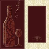 Vector wine card Stock Images