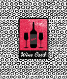 Vector wine card icon, logo, menu cover Stock Image