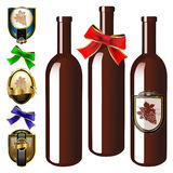 Vector Wine collection Stock Images