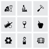 Vector Wine icon set Stock Image