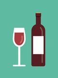 Vector wine illustration Royalty Free Stock Photo