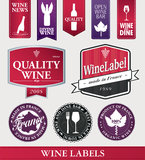 Vector wine items and labels Royalty Free Stock Image