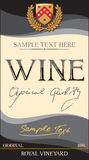 Vector wine label Royalty Free Stock Photography