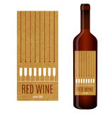 Vector wine label vector illustration