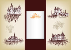 Vector wine labels Stock Photography